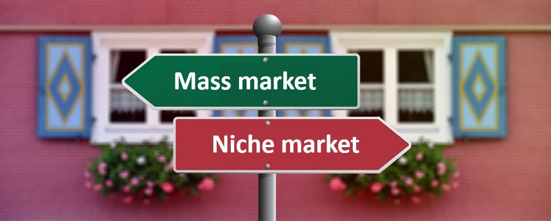 IB Business Management: Difference between niche & mass market