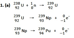 IB Chemistry: Nuclear fusion & nuclear fission answers
