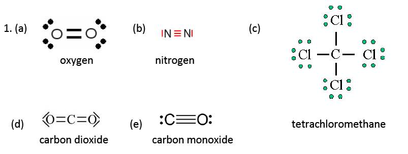IB Chemistry: Covalent structures (1) answers