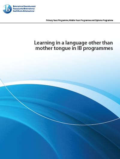 IB English B: Learning in a language...
