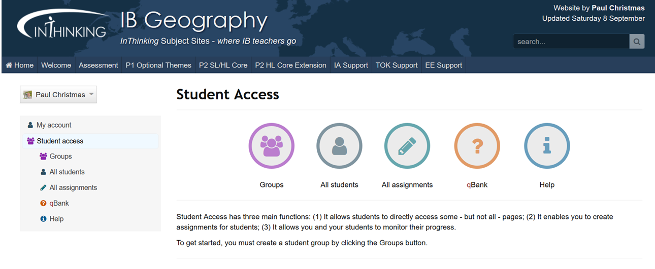 IB Geography: Student Access and Distance Learning
