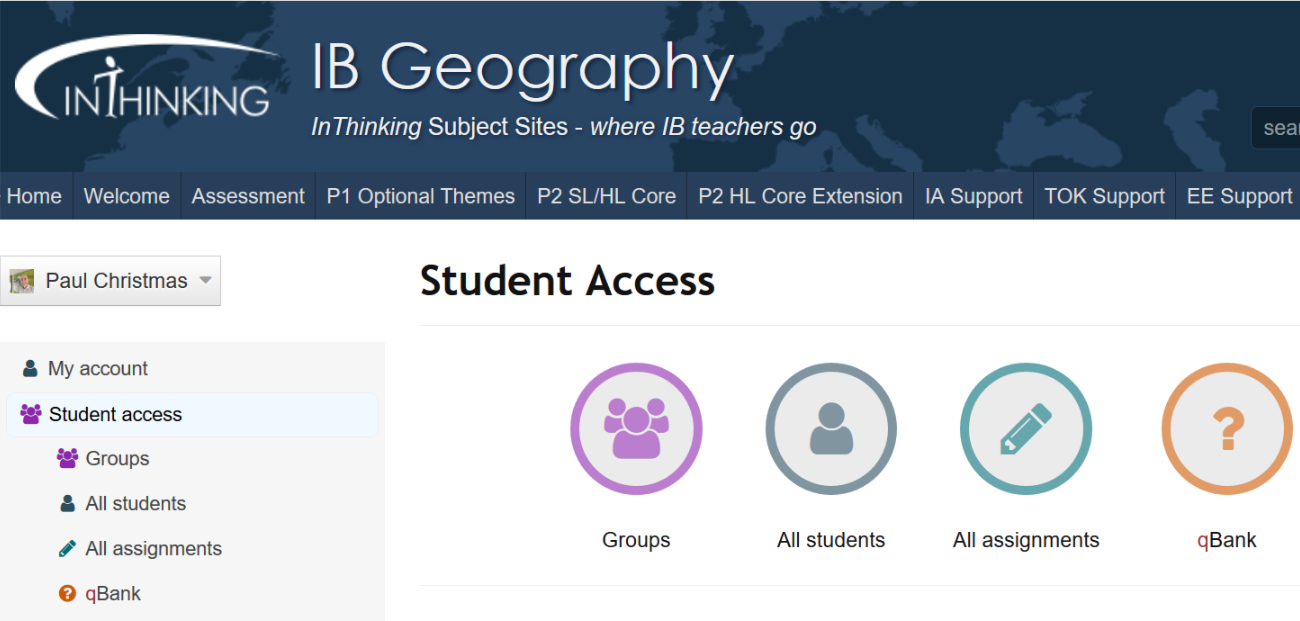 IB Geography: Student Access - Setting Assignments
