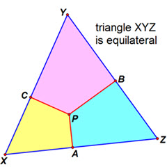 IB Maths: Analysis & Approaches: Equilateral Triangle - Interior Point Property