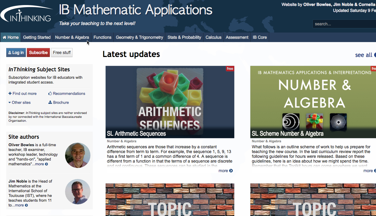 IB Maths: Applications & Interpretation: Syllabus Changes 2019