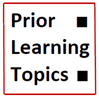IB Maths HL & SL / Analysis: Prior Learning Topics