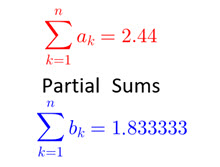 IB Maths HL & SL / Analysis: partial sums race