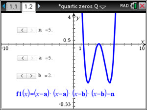 IB Maths HL & SL / Analysis: Quartic with Three Real Zeros