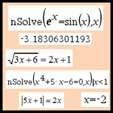 IB Maths HL & SL / Analysis: solving other equations