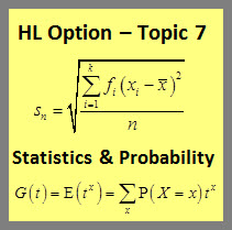 IB Mathematics HL & SL: Statistics & Probability HL Option