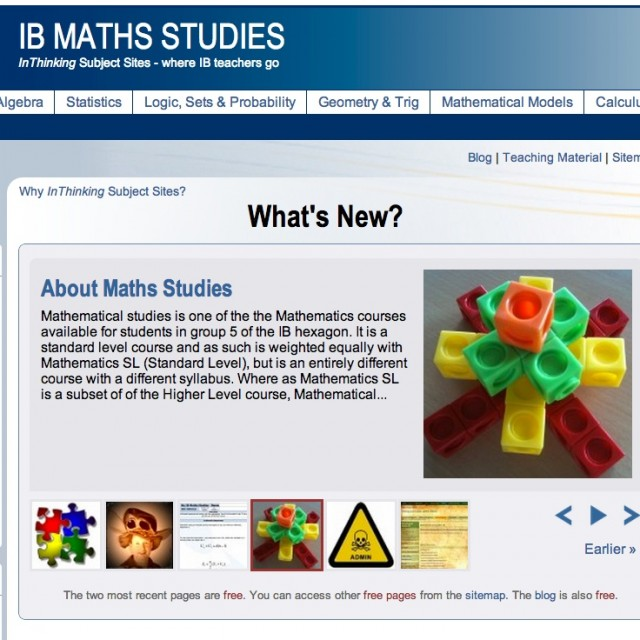 IB Maths Studies: Resourcing