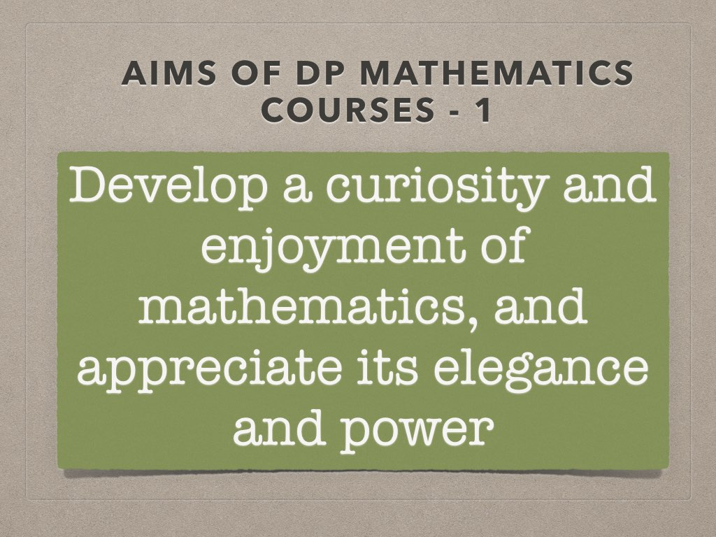 IB Maths Studies / Applications: Aims for the new courses