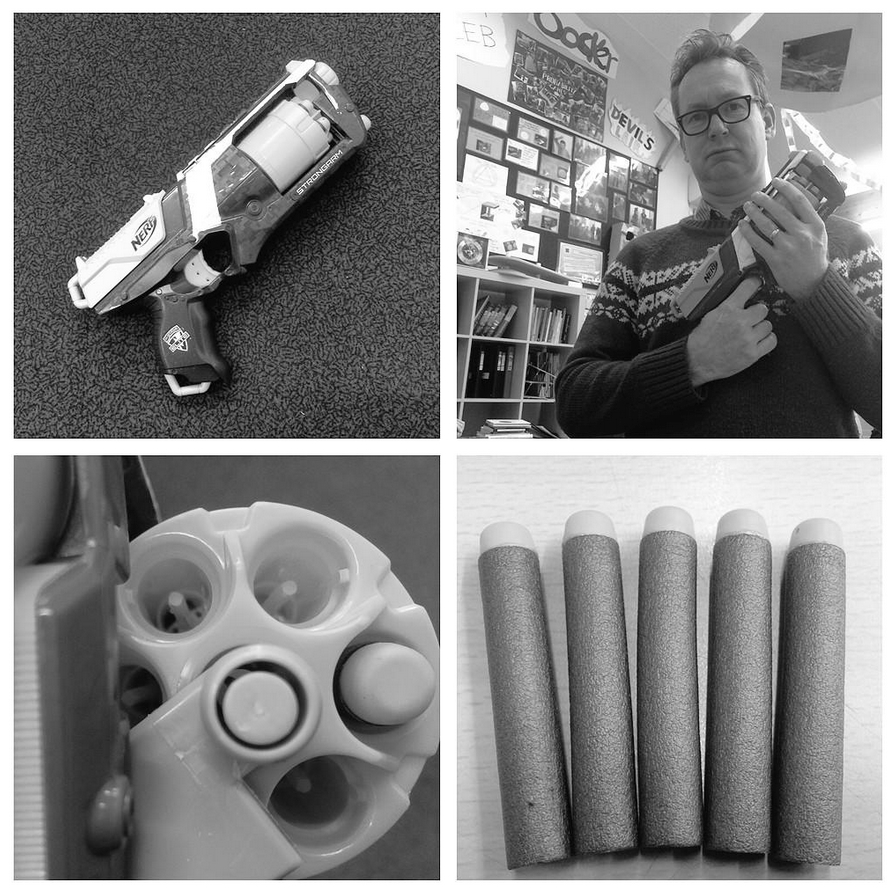 IB Maths Studies / Applications: Nerf gun roulette
