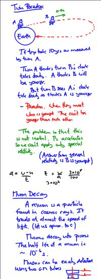 IB Physics: Teacher Notes: Length contraction
