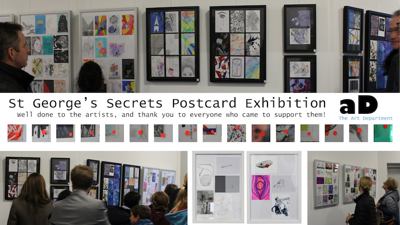 IB Visual Arts: Postcard Secrets Exhibition